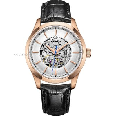 Montre Homme Rotary Mecanique Skeleton GS05036/06