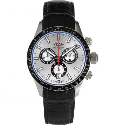 Rotary Swiss Made Quartz Herrenchronograph in Schwarz GS90151/06