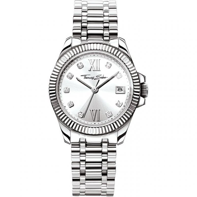Ladies Thomas Sabo Divine Watch WA0252-201-201-33MM
