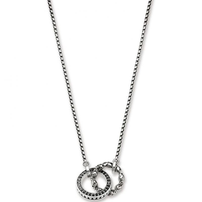 Thomas Sabo Rebel At Heart Skull Pave Necklace KE1498-643-11-L45V