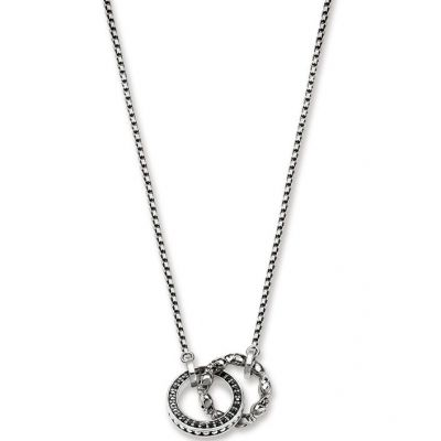 Thomas Sabo Dam Rebel At Heart Skull Pave Necklace Sterlingsilver KE1498-643-11-L45V