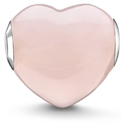 Thomas Sabo Dames Karma Beads Rose Quartz Heart Bead Sterling Zilver K0202-034-9