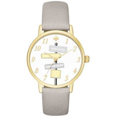 Kate Spade New York Metro Dameshorloge Grijs KSW1126