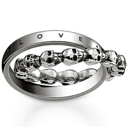 071dc66c40c3 Ladies Thomas Sabo Jewellery Sterling Silver SKULL LOVE FAITH HOPE RING  SIZE O (TR2103-637-12-54)