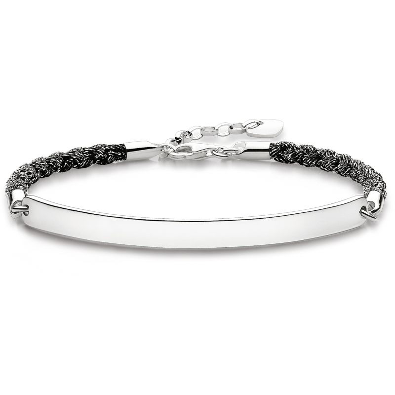 Ladies Thomas Sabo Sterling Silver Love Bridge Bracelet LBA0029-173-11-L19.5V