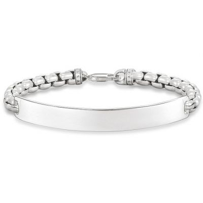 Ladies Thomas Sabo Sterling Silver Love Bridge Bracelet LBA0084-001-12-L17.5