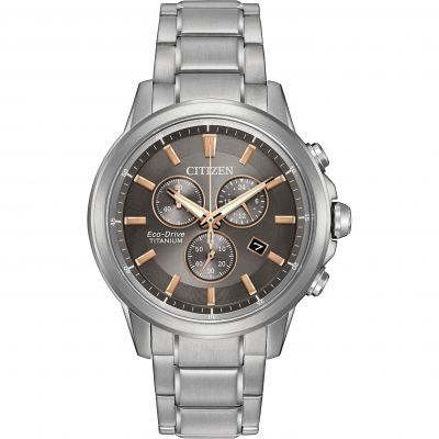 Mens Citizen Sport Ti Chronograph Watch AT2340-56H
