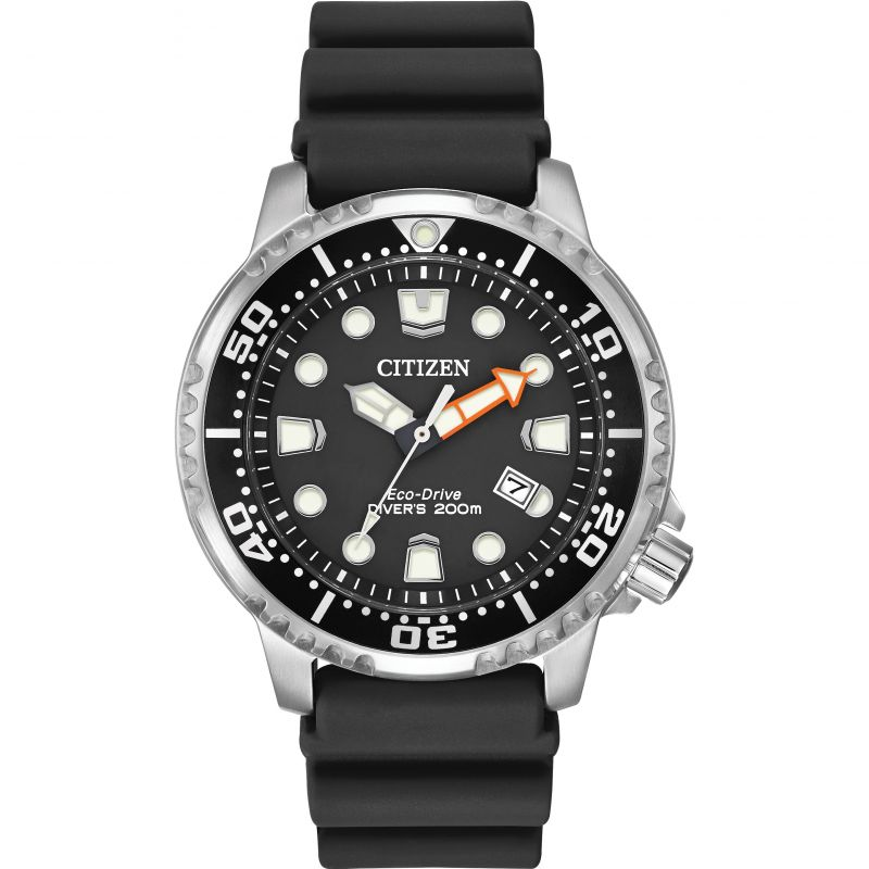 Mens Citizen Eco-drive Promaster Divers Stainless Steel Watch BN0150-28E
