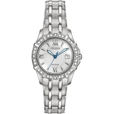 Citizen Silhouette Diamond Damenuhr in Silber EW2360-51A