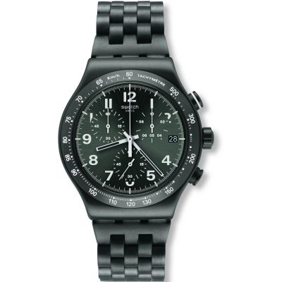 Swatch Irony Chrono Destination Soho Herrenuhr in Schwarz YVM402G