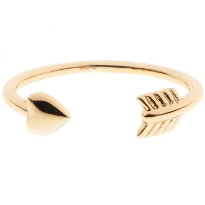 Ladies Ted Baker PVD Gold plated CASSEA CUPIDS ARROW RING ML TBJ1146-02-03ML