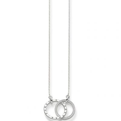 Ladies Thomas Sabo Sterling Silver Glam & Soul Together Forever Necklace KE1489-051-14-L60V