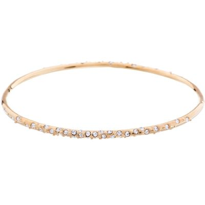Karen Millen Dames CRYSTAL SPRINKLE BANGLE SM PVD verguld Rose KMJ603-22-02SM