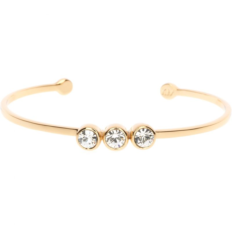 Ladies Karen Millen PVD Gold plated CRYSTAL DOT CUFF KMJ880-22-02