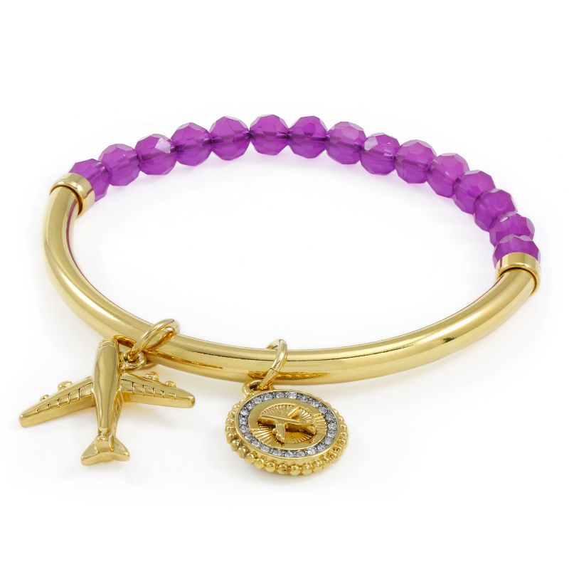 Ladies Juicy Couture PVD Gold plated JET SET BRACELET WJW807-541