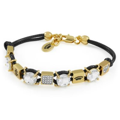 Ladies Juicy Couture PVD Gold plated CUBE BRACELET WJW802-001