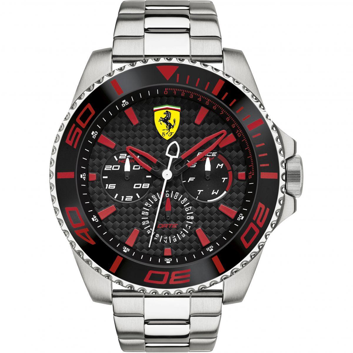 mens black display quartz watch amazon ferrari analog com men dp s redrev evo
