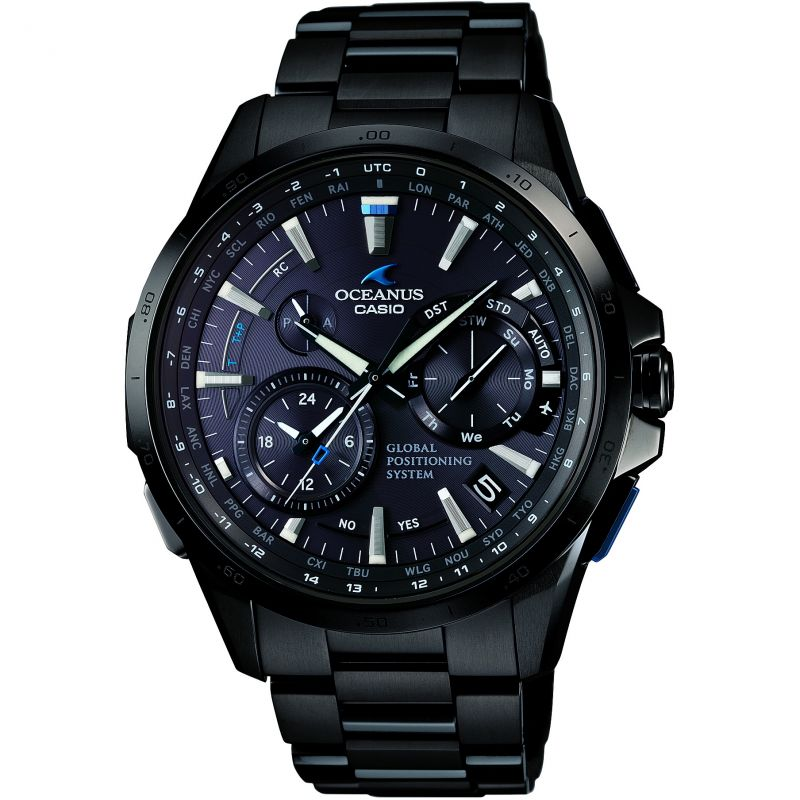 Mens Casio Oceanus GPS Hybrid Chronograph Radio Controlled Watch