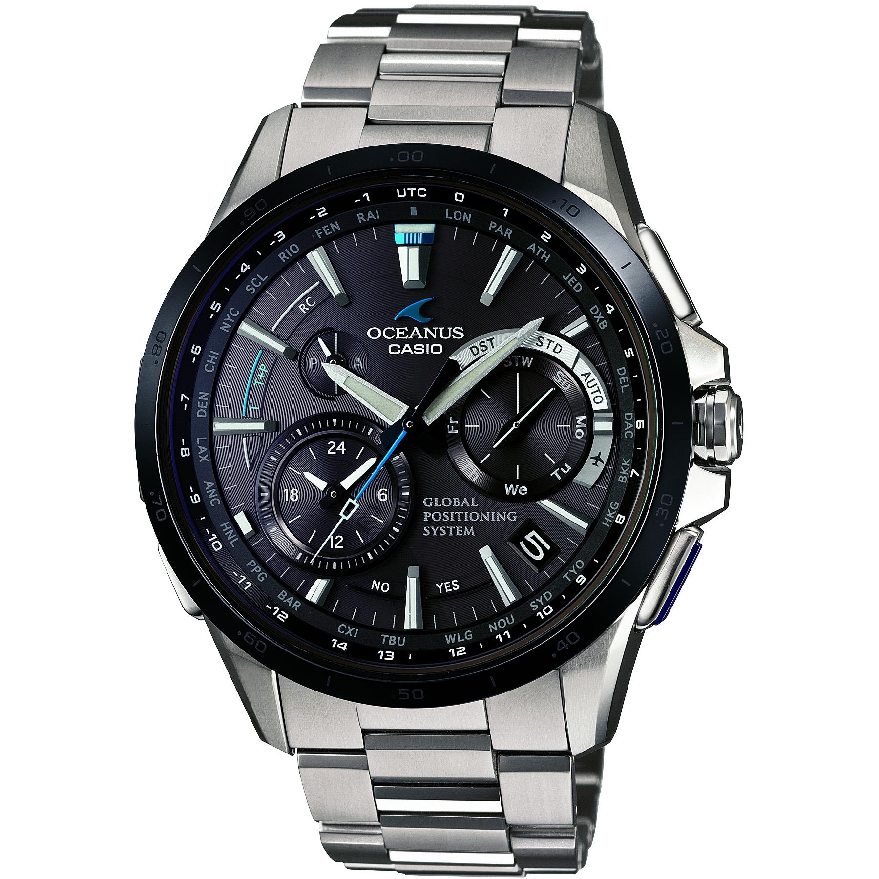 ea476c5523c Gents Casio Oceanus GPS Hybrid Chronograph Watch (OCW-G1000DB-1AJF ...