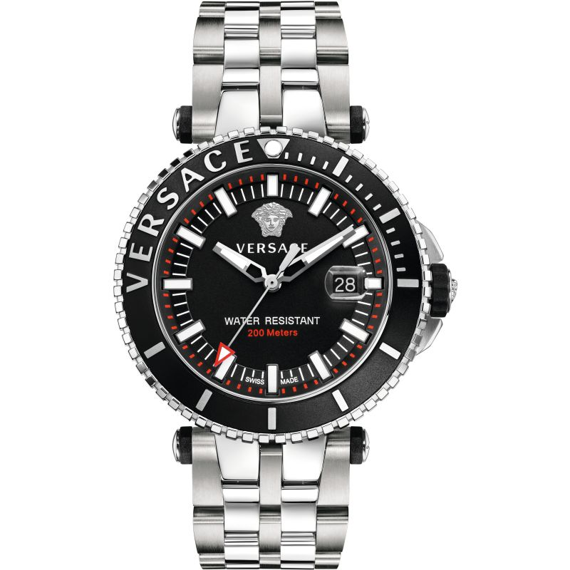 Mens Versace V-Race Diver Watch VAK030016