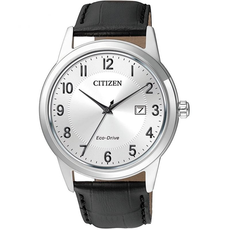 Mens Citizen Eco-drive Dress Stainless Steel Watch AW1231-07A