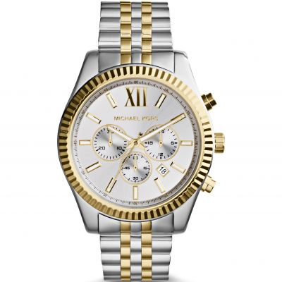Michael Kors Lexington Herrenchronograph in Zweifarbig MK8344