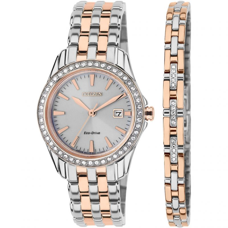 Ladies Citizen Bracelet Gift Set Watch EW1909-64A