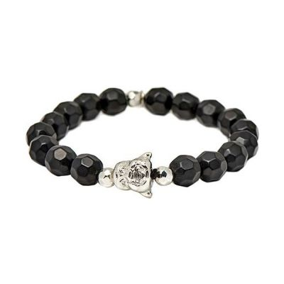 Icon Brand Base metal Alternate Ending Bracelet B594-BR-BLK