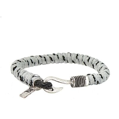 Icon Brand Base metal Disclaimer Bracelet LE1118-BR-GRY
