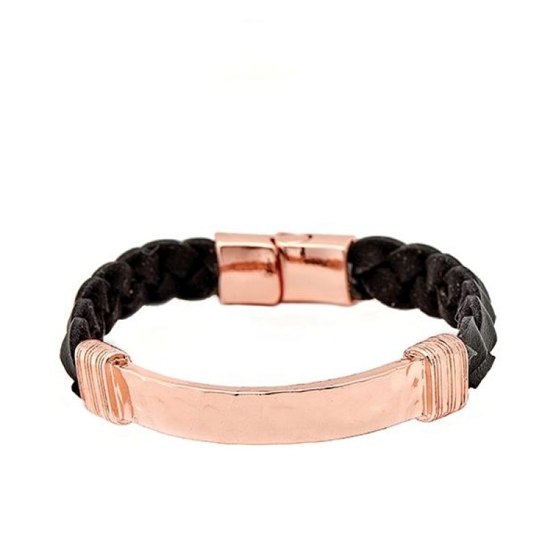 Icon Brand Base metal Braided Bunch Bracelet LE1124-BR-COP