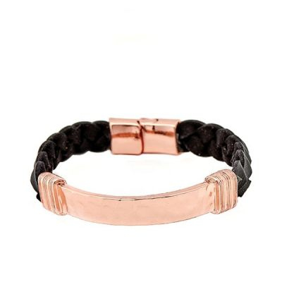 Bijoux Unisexe Icon Brand Braided Bunch Bracelet LE1124-BR-COP