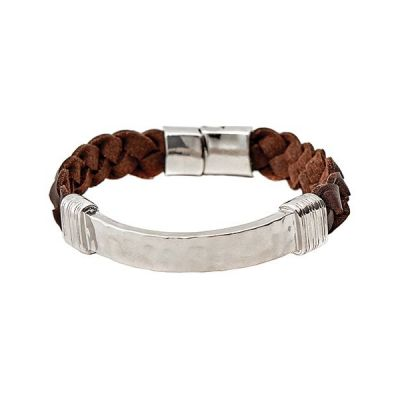 Bijoux Unisexe Icon Brand Braided Bunch Bracelet LE1124-BR-SIL