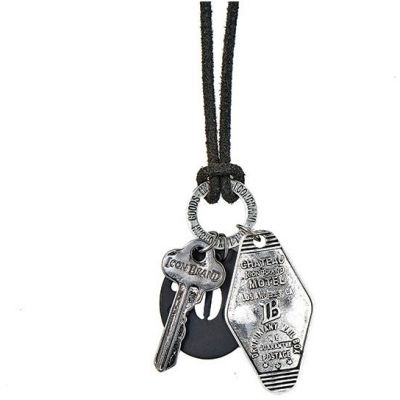 Mens Icon Brand Base metal Motel 208 Necklace LE1126-N-MUL