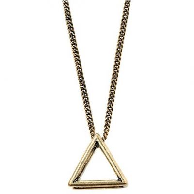 Icon Brand Unisex Triad Fixation Necklace Basmetall LE1128-N-GLD