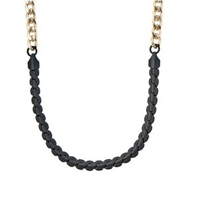 Icon Brand Unisex Twice Nice Necklace Basmetall P1025-N-GLD