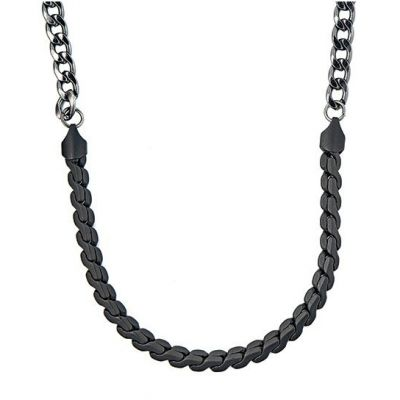 Icon Brand Unisex Twice Nice Necklace Basmetall P1025-N-HEM