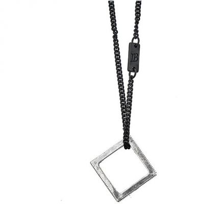 Icon Brand Dames Rubix Necklace Basismetaal P1049-N-SIL