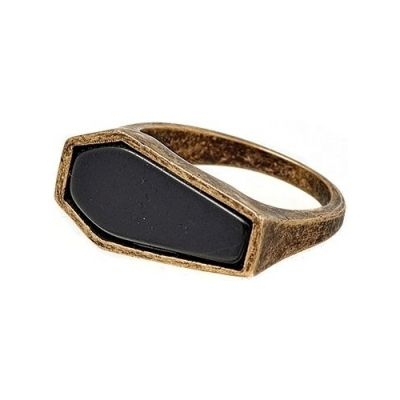 Icon Brand Unisex Tombstone Ring Basmetall P1060-R-GLD-LGE