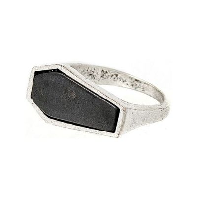 Unisex Icon Brand Size Large Tombstone Ring Basismetall P1060-R-SIL-LGE