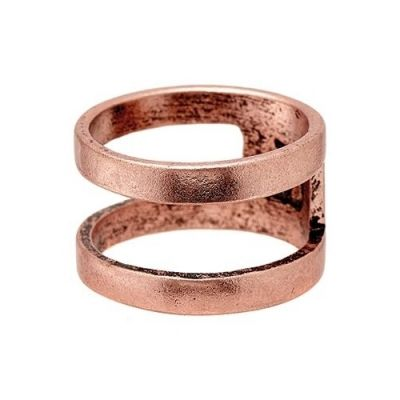 Icon Brand Unisex Divided Ring Basmetall P1063-R-COP-MED