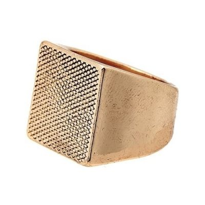Icon Brand Unisex Luxury Model Ring Basmetall P1064-R-GLD-LGE