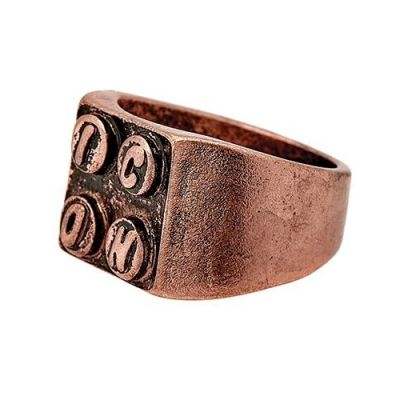 Icon Brand Unisex Building Block Ring Basmetall P1067-R-COP-MED