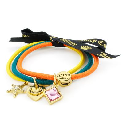 Bijoux Femme Juicy Couture Set Of 3 Charmy Hair Elastics WJW950-753-U