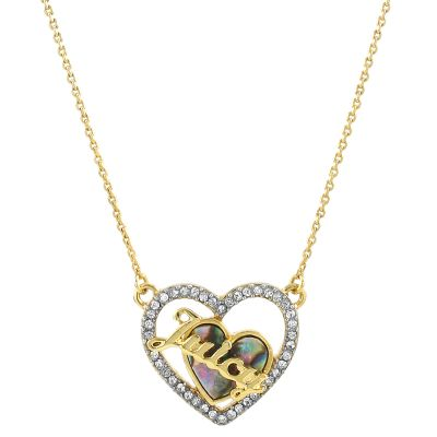 Damen Juicy Couture Mother Of Pearl Heart Halskette vergoldet WJW863-710-U