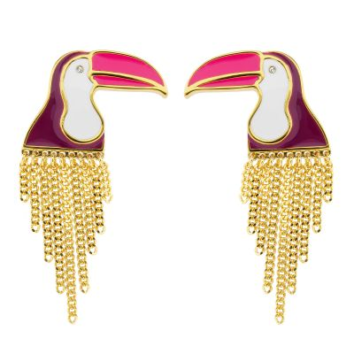 Biżuteria damska Juicy Couture Jewellery Ipanema Toucan Stud Earrings WJW855-710-U