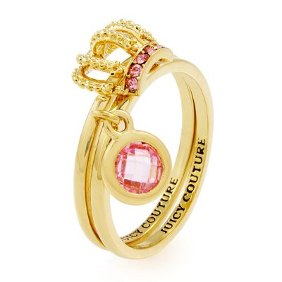 Juicy Couture Dam Juicy Crown Ring Set Guldpläterad WJW893-710-7