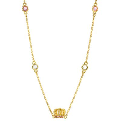 Damen Juicy Couture Juicy Crown Station Halskette vergoldet WJW962-710-U