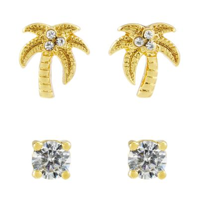 Bijoux Femme Juicy Couture Palm Tree Stud Boucles d'oreilles Set WJW880-710-U