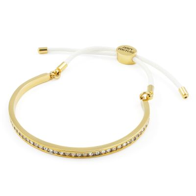 Damen Juicy Couture Pave Cuff And Cord Armband vergoldet WJW905-113-U
