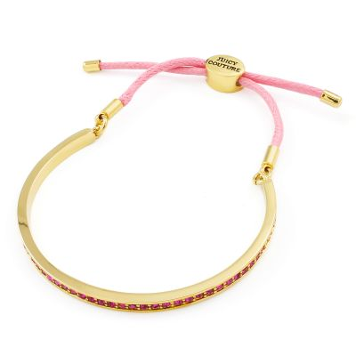 Damen Juicy Couture Pave Cuff And Cord Armband vergoldet WJW905-678-U